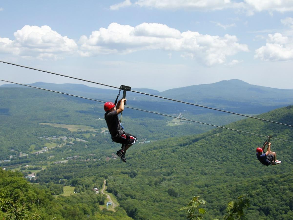 Image result for new york zipline hunter mountain