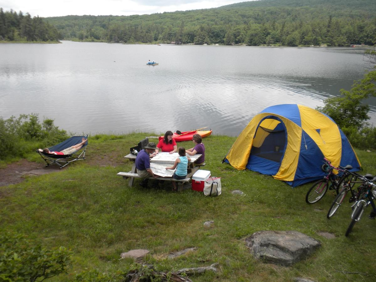 Volle Hookup-Campingplätze in ny