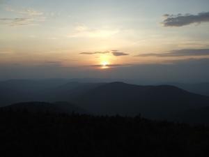 Sunset view form the fire tower