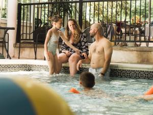 family fun in indoor pool