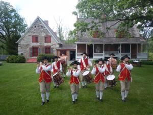 Historical fife and drum band reenactment