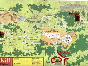 Souvenir map from the former zoo