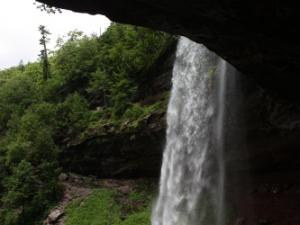 View of Kaaterskill Falls from behind the falls