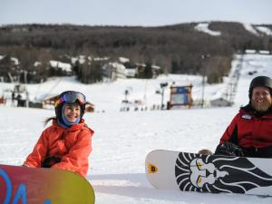 Windham Mountain Resort snowboarders