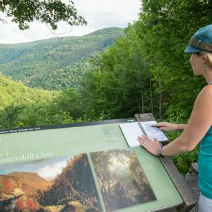 woman at Kaaterskill Clove