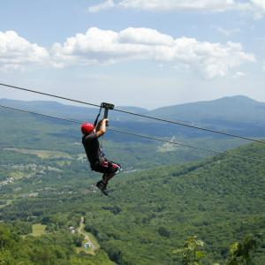 Ziplining over the Catskill Mountains