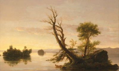 American Lake Scene by Thomas Cole