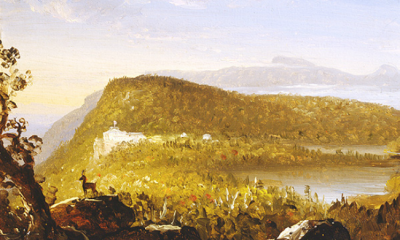 A View of the Two Lakes & Mountain House, Catskill Mountains, Morning by Thomas Cole