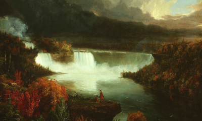 A Distant View of Niagara Falls by Thomas Cole