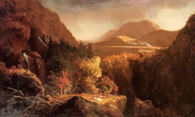 Landscape with Figures: Scene from Last of the Mohicans by Thomas Cole