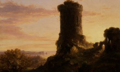 Landscape with Tower in Ruins by Thomas Cole
