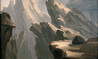 Study of Mountain Crags by Thomas Cole