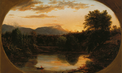Sunset, View on the Catskill by Thomas Cole