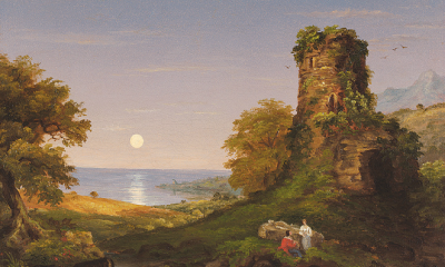 Tower with Moonlight by Thomas Cole