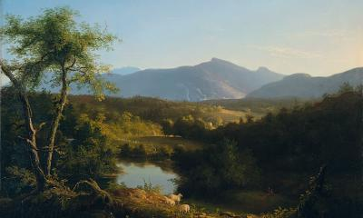 View Near The Village of Catskill by Thomas Cole