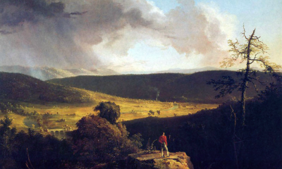 View of L'Esperance on the Schoharie River by Thomas Cole