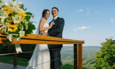 Bride and Groom at windham mountain
