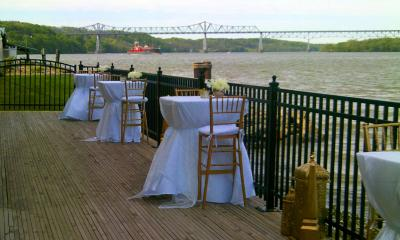 tables for wedding at the point
