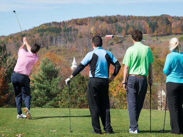 Fall golfing in the Catskills