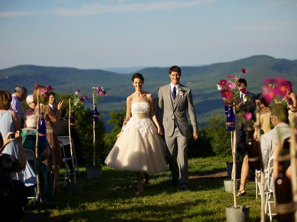 Couple married in the Catskill Mountains